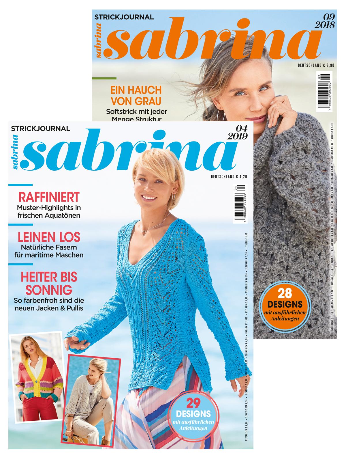 Zwei Zeitschriften im Doppelpack! Sabrina Nr. 09/2018 und 04/2019