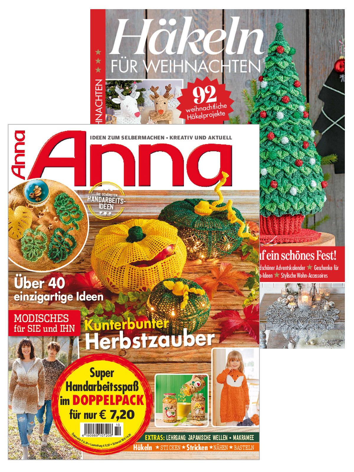 """2 Zeitschriften: Anna Nr. 10/2020 und 220057/FH 110 """"Häkeln f Whn"""""""