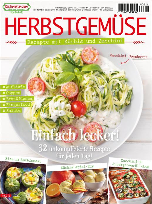 Küchenklassiker Sonderheft KK 016 - Herbstgemüse - Rezepte mit Kürbis und Zucchini