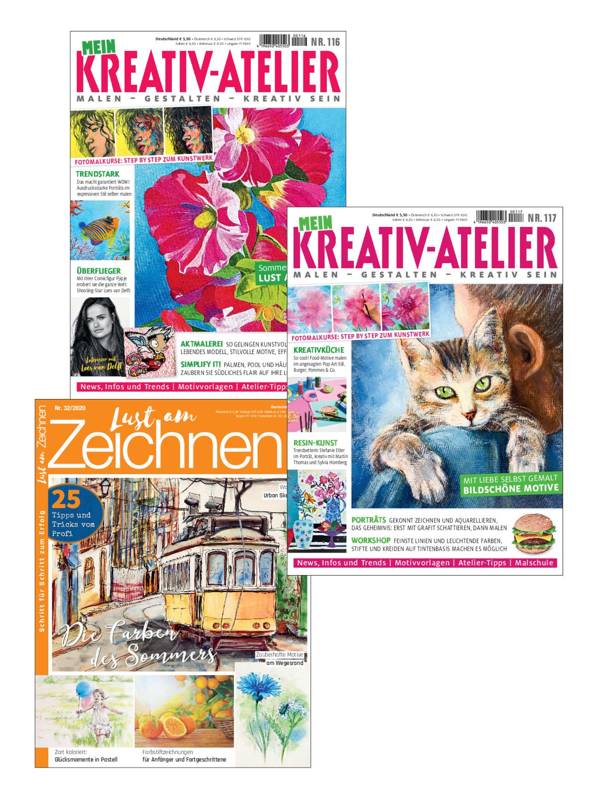 3 Zeitschriften statt Euro 16,00 nur Euro 8,00 zum Spartarif