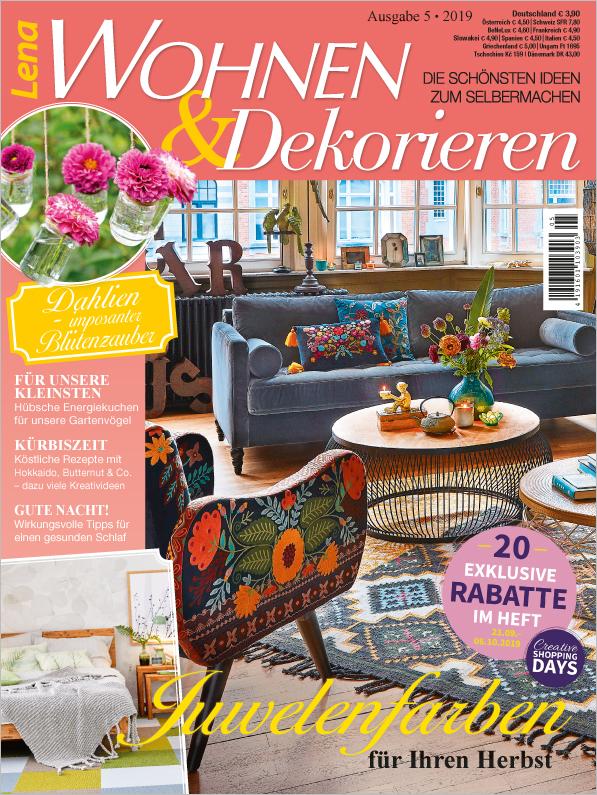 Lena Wohnen & Dekorieren Nr. 05/2019 - Juwelenfarben für Ihren Herbst