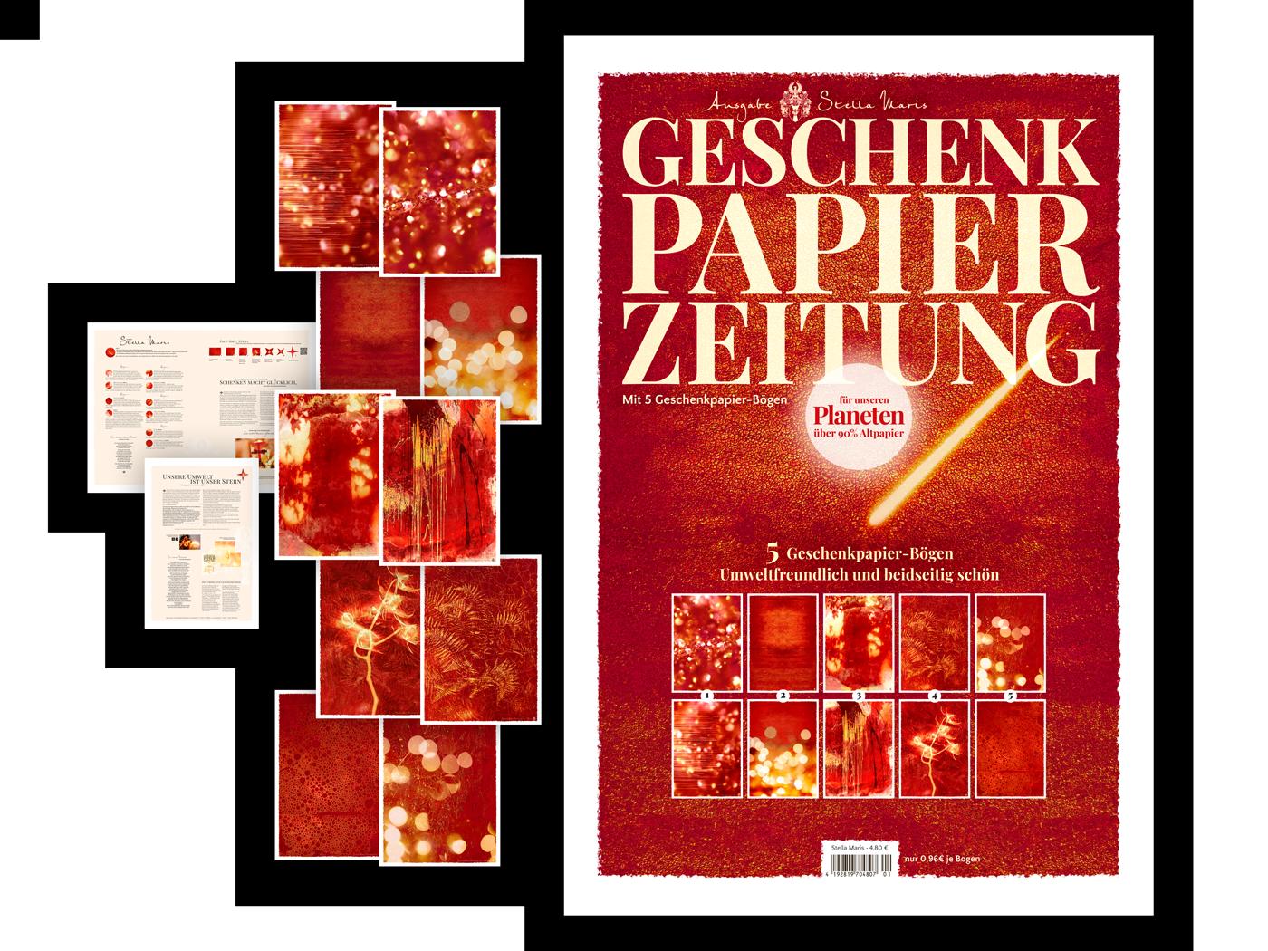 Geschenkpapier-Zeitung