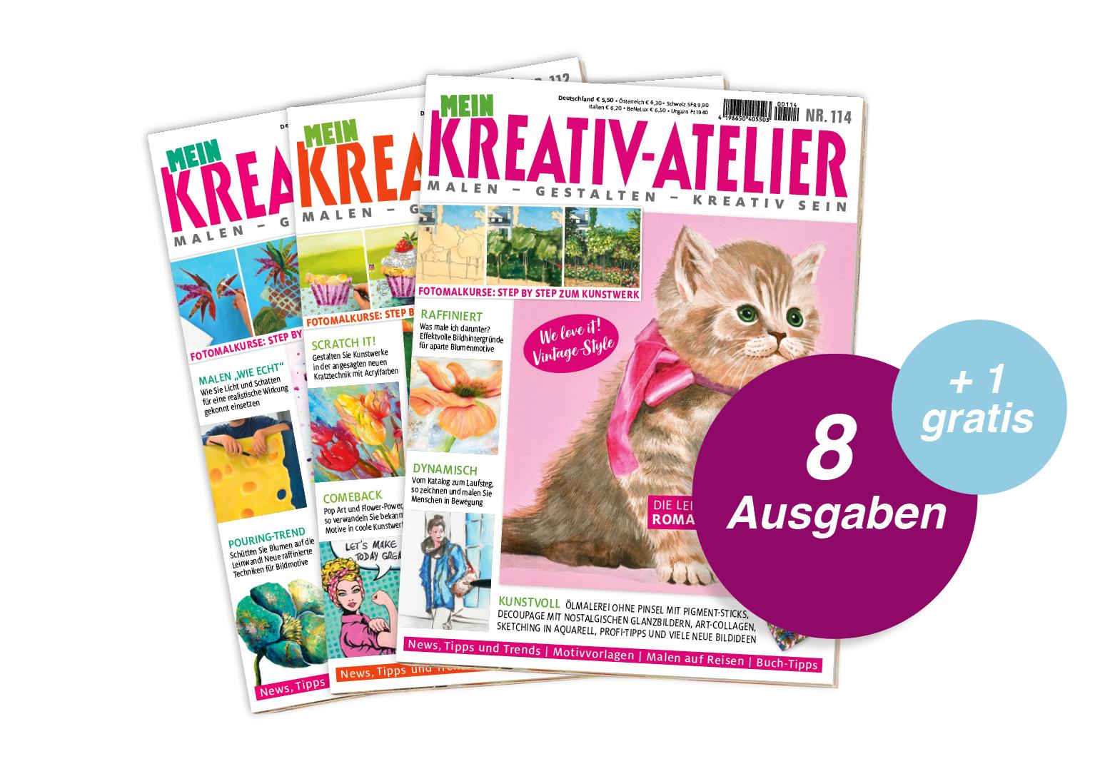 Mein Kreativ-Atelier - Jahresabo + 1 Ausgabe gratis