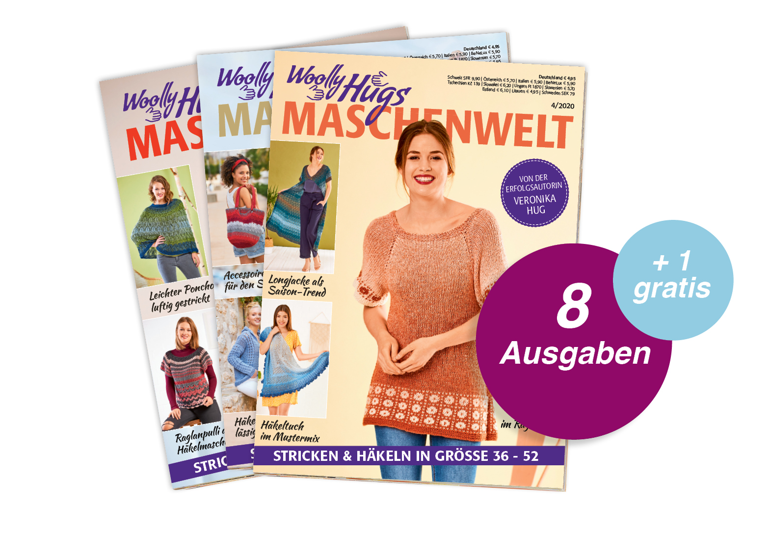 Woolly Hugs Maschenwelt - Jahresabo + 1 Ausgabe gratis