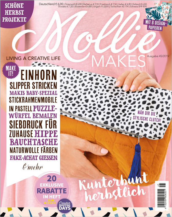 Mollie Makes Nr. 45/2019 - Kunterbunt herbstlich