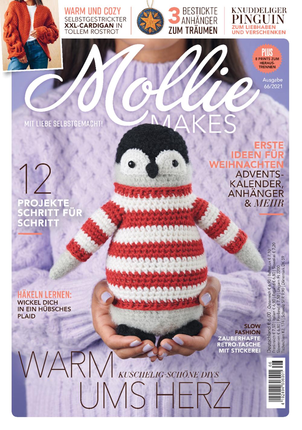 Mollie Makes Nr. 66/2021 - Warm ums Herz
