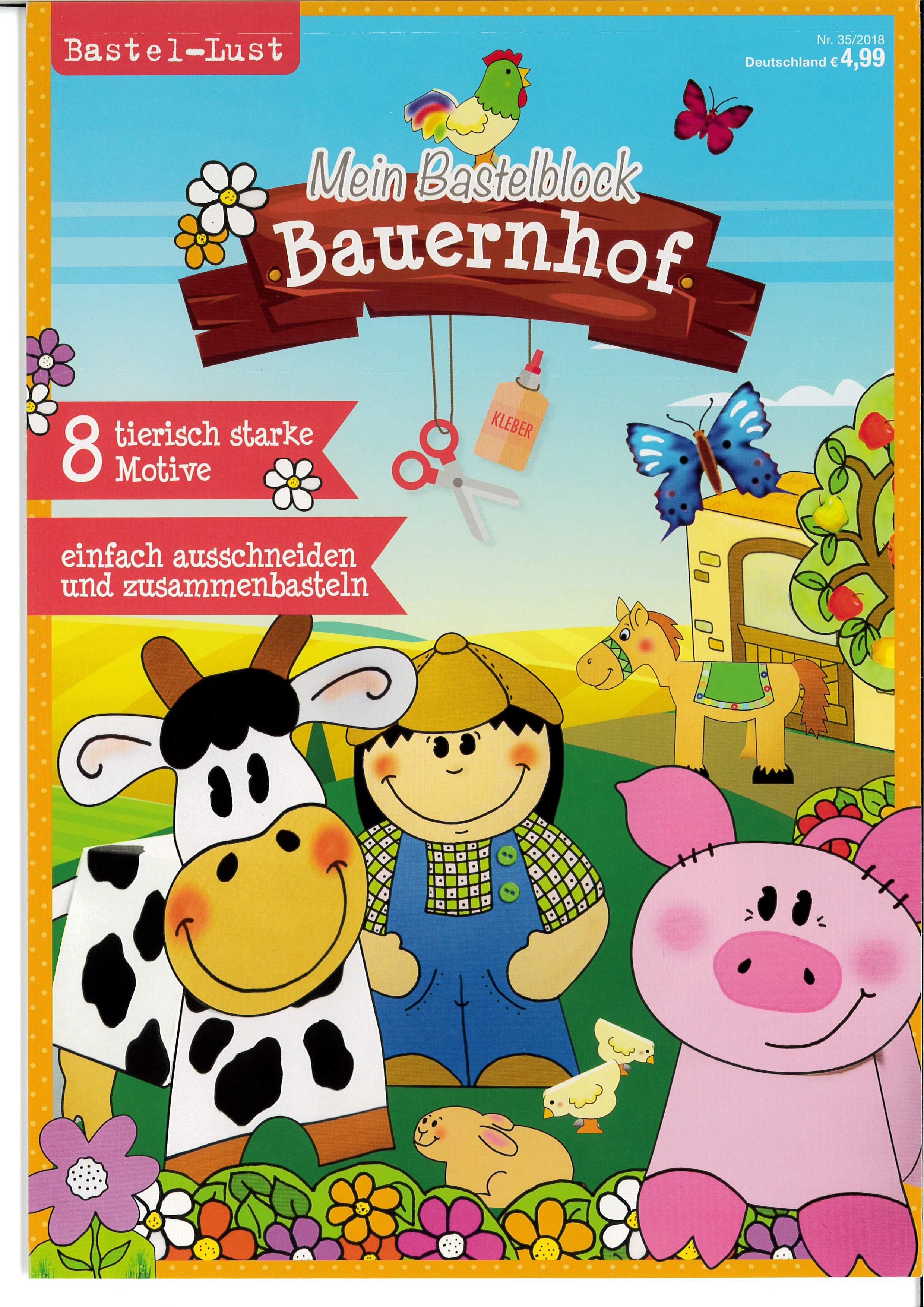 Bastellust Nr. 35/2018 - Bastelblock Bauernhof