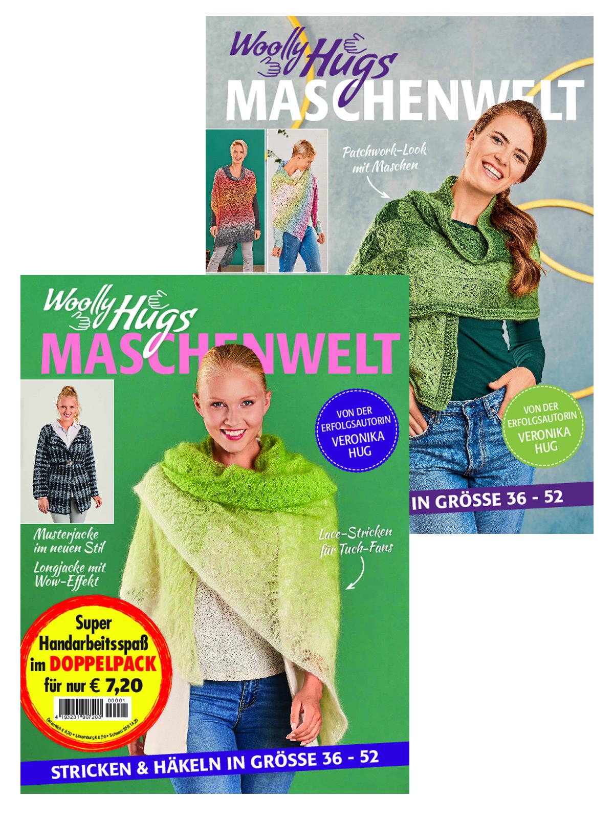 Zwei Zeitschriften - Woolly Hugs WH 20 008 und WH 19 007