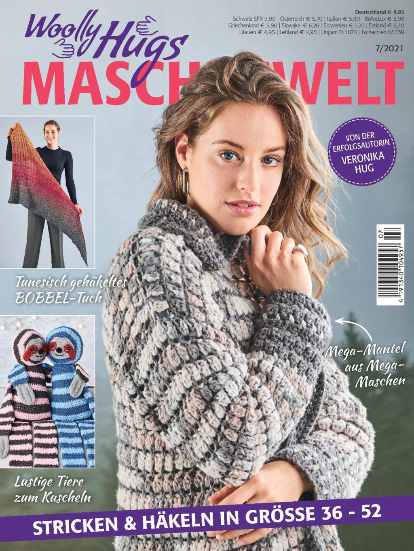 Woolly Hugs Maschenwelt Nr. 7/2021 - Stricken & Häkeln in Größe 36-52
