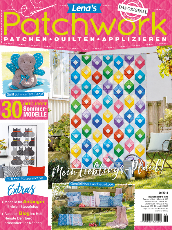 Lena´s Patchwork Nr. 69/2018 - Mein Lieblings-Plaid!