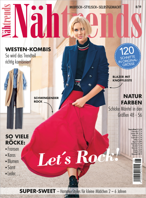 Nähtrends Nr. 08/2019 - Let´s Rock!