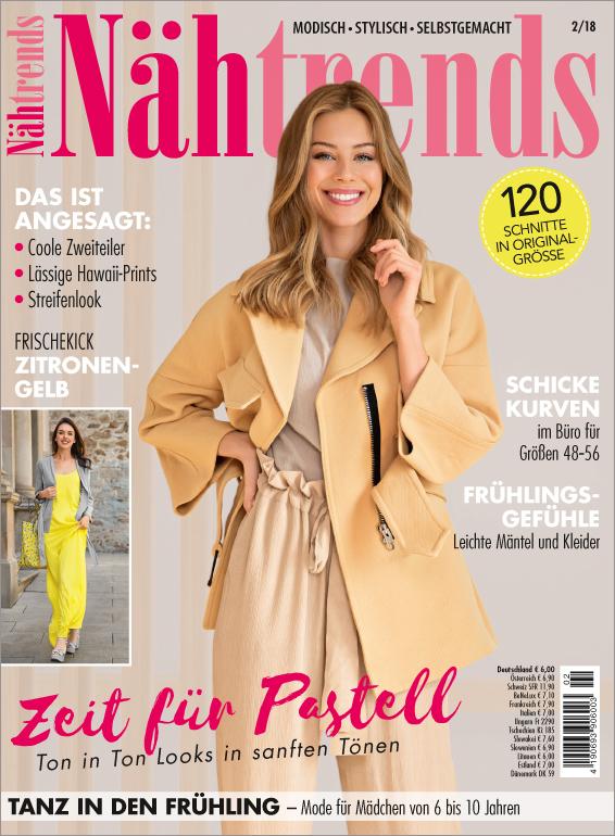 Nähtrends Nr. 02/2018 - Zeit für Pastell