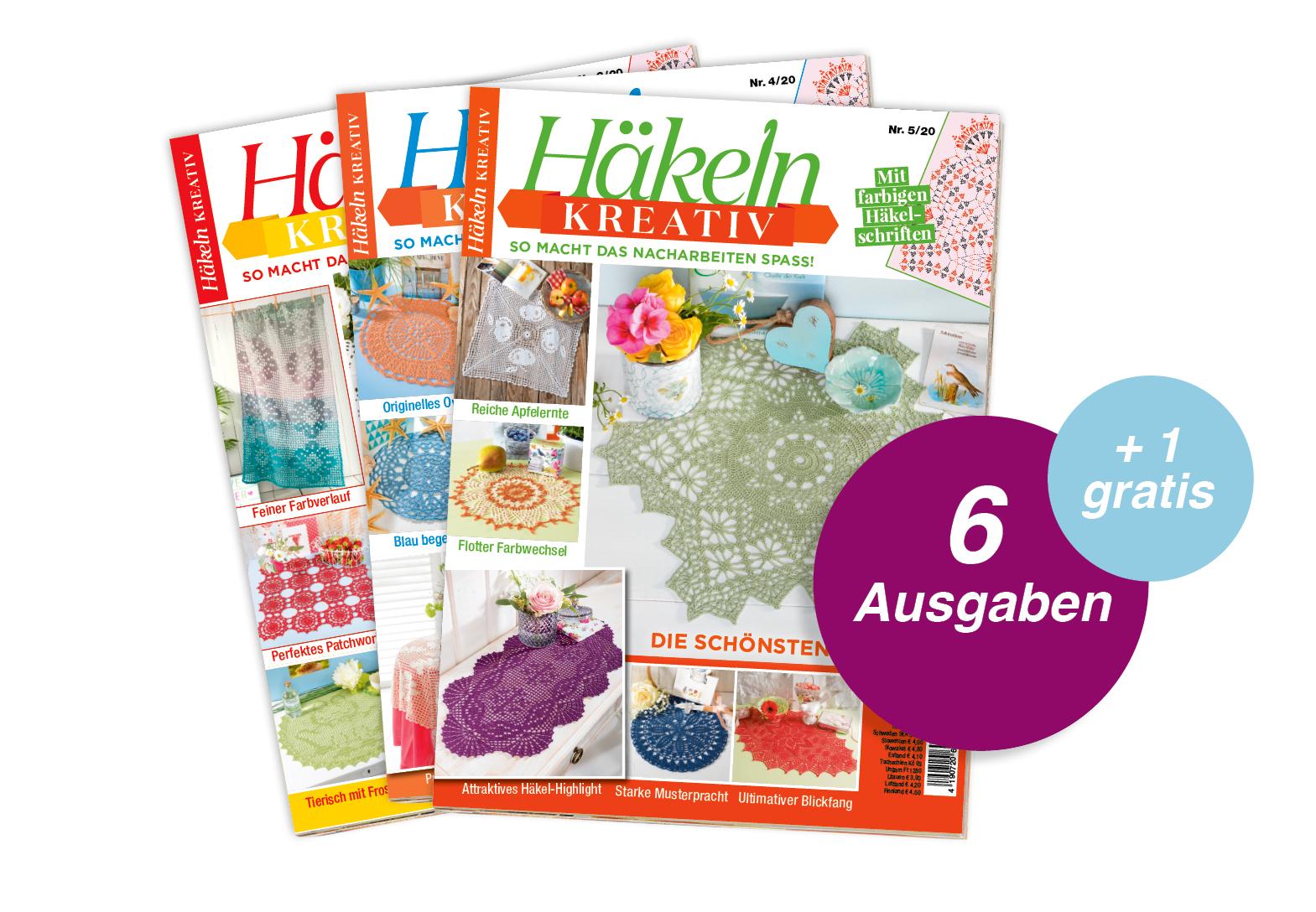 Häkeln kreativ- Jahresabo + 1 Ausgabe gratis