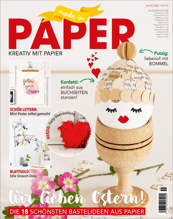 Made in Paper Nr. 15/2018 - Wir lieben Ostern!