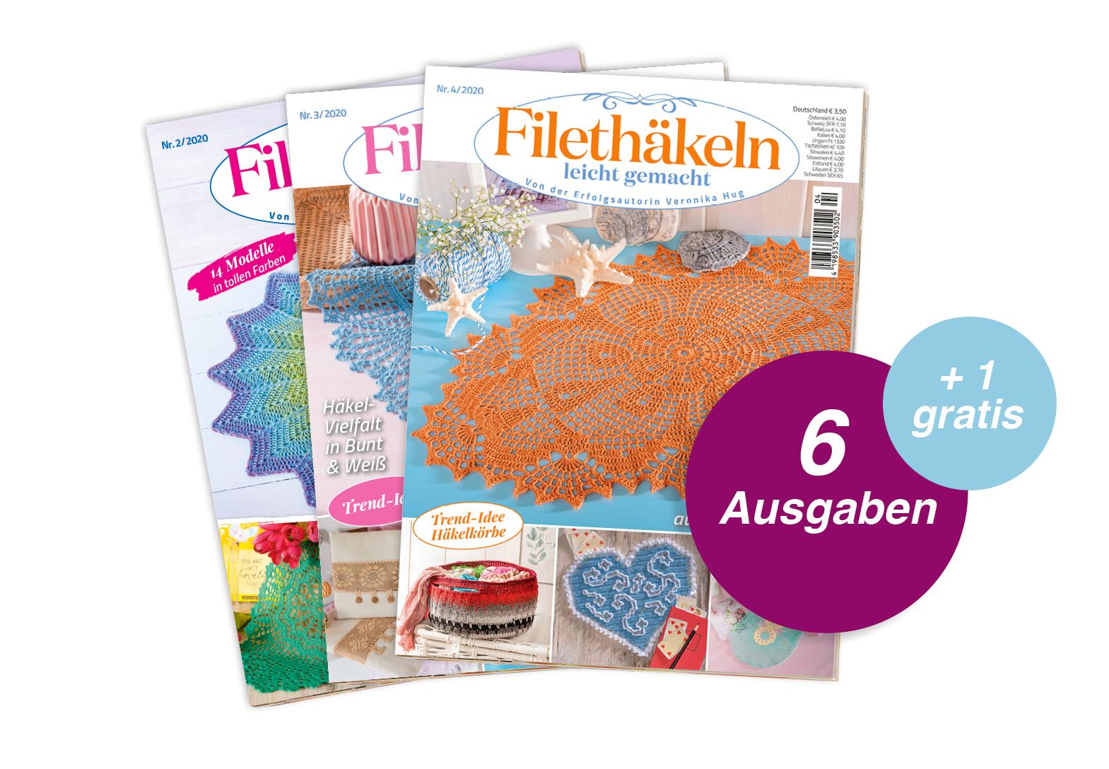 Filethäkeln leicht gemacht- Jahresabo + 1 Ausgabe gratis